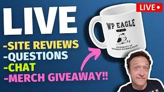 YOUR SITE REVIEWED + YOUR QUESTIONS + MERCH GIVEAWAY - LIVE!