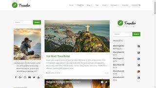 WordPress Blog Site Builder - Traveler WordPress Theme Blog Templates