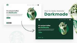 How To make Website Darkmode using CSS & Javascript | Step By Step Responsive Web Design Tutorial