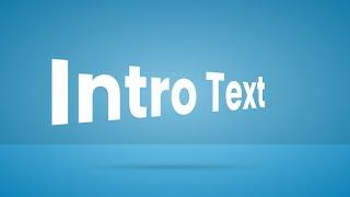 CSS Only Intro Text Animation Effects | Simple Text Animation