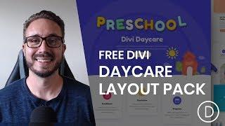 Get a FREE Daycare Layout Pack for Divi