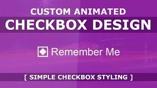 Pure CSS Custom Animated  Checkbox Design - How To Create a Custom Checkbox