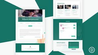 Get a FREE Blog Post Template for Divi's Charity Layout Pack