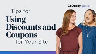Tips for Using Discounts and Coupons on Your Website | GoDaddy
