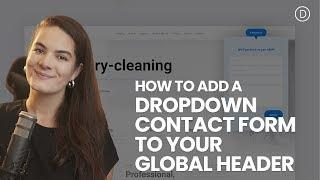 How to Add a Dropdown Contact Form to Your Global Header