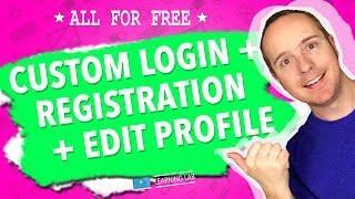 Create A Custom Login Page, Custom Registration Page & An Edit Profile Page In WordPress