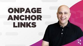 How To Make OnPage Anchor Navigation Links With WordPress, Any Page Builder Or Custom Code