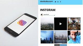 Embed Instagram on a Website or Blog EASY!