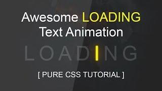 Cool Css Glowing Text Loading Animation Tutorial - Html Css Blinking Text Effect - SUBSCRIBE Us