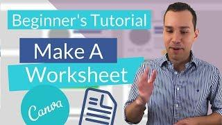 Create Worksheet in Canva For Your Online Course And Lead Magnets (PDF)