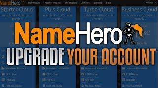 How To Upgrade Your Hosting Package At NameHero