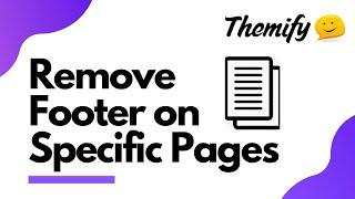How to Remove Footer for Specific Pages (Perfect for Landing Pages) - Themify Tutorial