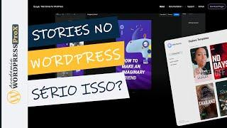 Plugin WP Google Stories  Novo Plugin Wordpress Para Stories No Site