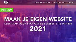 Hoe Maak Je Een Website 2021 (Dutch Tutorial)