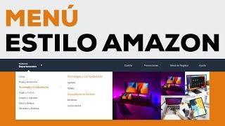 Super Menú de Navegación Avanzado Estilo Amazon con HTML, CSS y Javascript