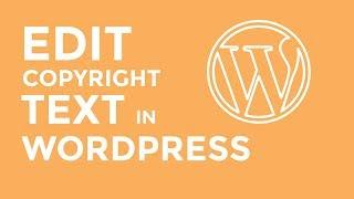 How to Remove WordPress Footer Copyright Text?