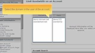How to adjust bandwidth quotas in WHM