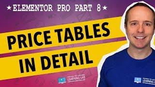 Elementor Pro Part 8 - Elementor Price Table Widget