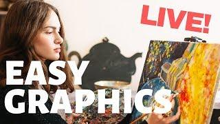 EASY GRAPHICS & PHOTOS for your CONTENT - LIVE