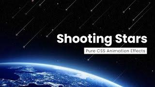 Pure CSS Shooting Star Animation Effect | CSS Only