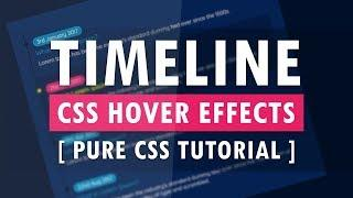 Pure CSS Timeline Design With Cool Hover Effects - Create a Verticle Timeline Using Html and CSS