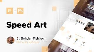 Web Design Speed Art - Call to Action Interactions (#Elementor, #Photoshop)