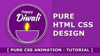 Happy Diwali - Pure Html CSS Design - Tutorial - Html Css Animation Effects - Html Css Effects