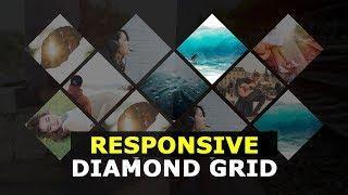 Responsive Diamond Grid  with HTML CSS and Javascript - Responsive jQuery Diamond Layout Plugin