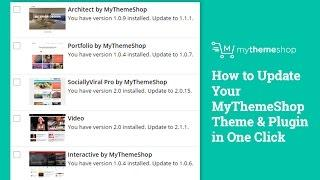 How to Update Your MyThemeShop Theme & Plugin in One Click HD