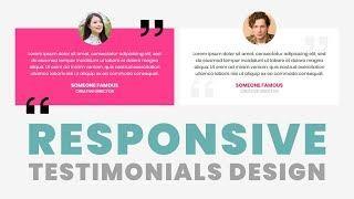 Responsive Testimonials Box Design With CSS Grid | Html CSS Tutorial