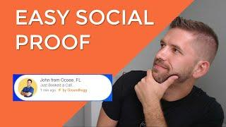 Adding a Social Proof Plugin to your website for Instantly Better Conversions (Groundhogg Tutorial)