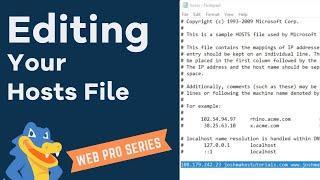 Editing your Hosts File - HostGator Migration Tutorial