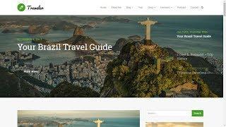 Traveler WordPress Theme Home-Page Presentation - Blog WordPress Theme