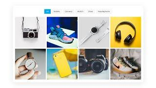 Responsive Portfolio Filter Gallery using HTML CSS & Javascript | Filterable Image Gallery