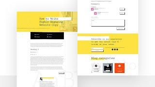 Download a FREE Blog Post Template for Divi's Freelance Writer Layout Pack