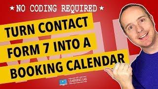 WordPress Booking Calendar Using Contact Form 7 & A Datepicker   Contact Form 7 Tutorials Part 7
