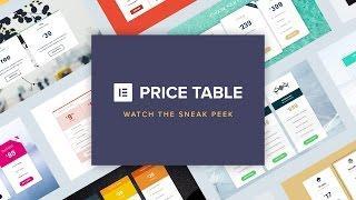 Elementor Price Table Sneak Peek (New Pro feature)