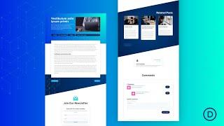 Get a FREE Blog Post Template for Divi's Cyber Security Layout Pack