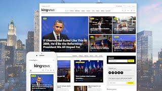 KingNews - Magazine, Newspaper and Blog WordPress Theme #58404