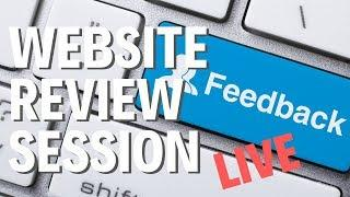 AFFILIATE SITE REVIEW SESSION - LIVE