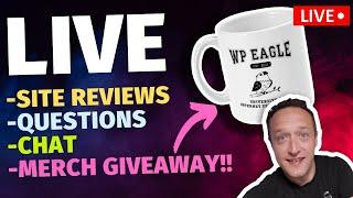 SITE REVIEWS x QUESTIONS x CHAT x MERCH GIVEAWAY - LIVE!