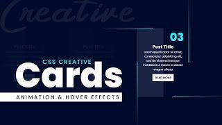 CSS Creative Cards Animation and Hover Effects   CSS Snake Border Animation