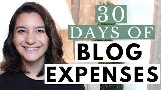 How Much I Spent on Blog Expenses for 1 Month