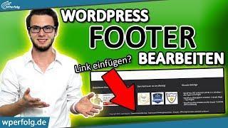 WordPress Footer Bearbeiten: (Impressum) Footer Link in Widget einfügen + Footer Farbe ändern | 2019