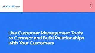 Wix.com   Build Customer Relationships   Complete CRM