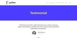 Testimonial Component Usage Guide - Pollen WordPress Plugin Free WPBakery Addons