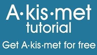 Akismet Wordpress Plugin   Get a free API code