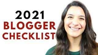 Beginner Bloggers Checklist for 2021: Things You Should Do Your 1st Year Blogging