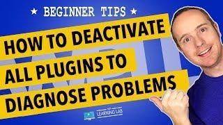 How To Deactivate All Plugins In WordPress At One Time