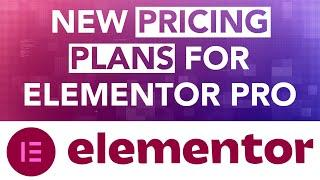 Introducing The New Pricing Plans Of Elementor PRO
